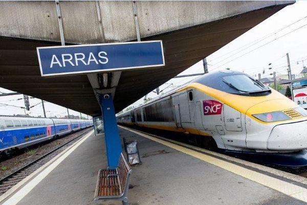 La gare d'Arras où a été interpellé l'homme de 26 ans, soupçonné de pédophilie.