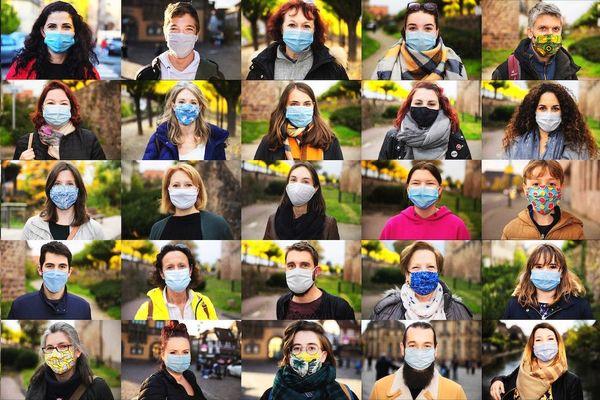 À terme, les deux photographes espèrent collecter 40.000 portraits masqués.