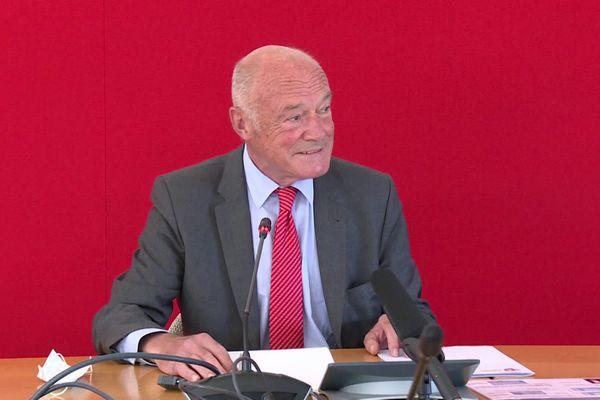 Alain Rousset dévoile son plan de relance régional lors de la conférence de presse de rentrée, lundi 14 septembre 2020