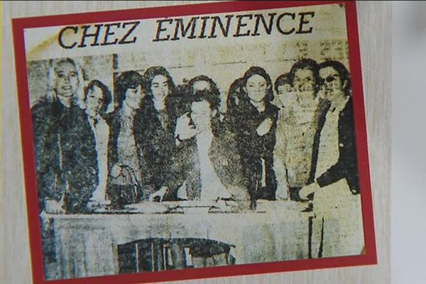 Photo de presse montrant la grève en Mai 68 à l'usine Eminence d'Aimargues (Gard)