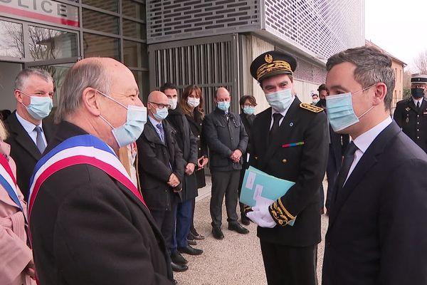 Le ministre a officiellemnt inauguré ce lundi 15 février l'Hôtel de police d'Annemasse flambant neuf