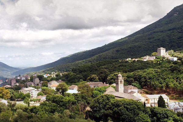 La commune de Luri, dans le Cap Corse (haute-Corse)