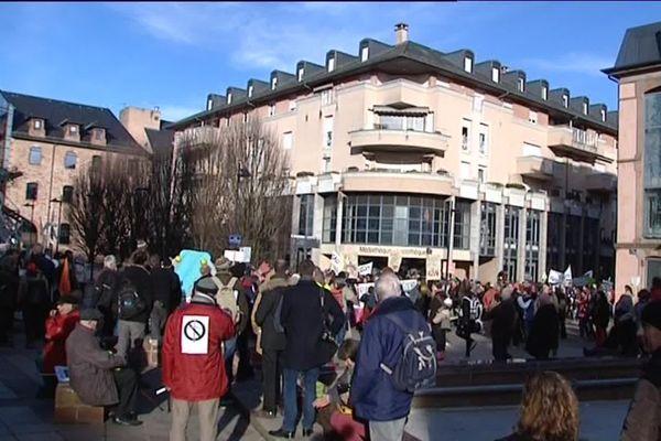 La justice reproche à un militant un jet de feuilles d'origine végétale, en marge d'une manifestation le 21 janvier 2017 à Rodez