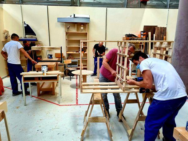 L'atelier du chantier de réinsertion de Borgo