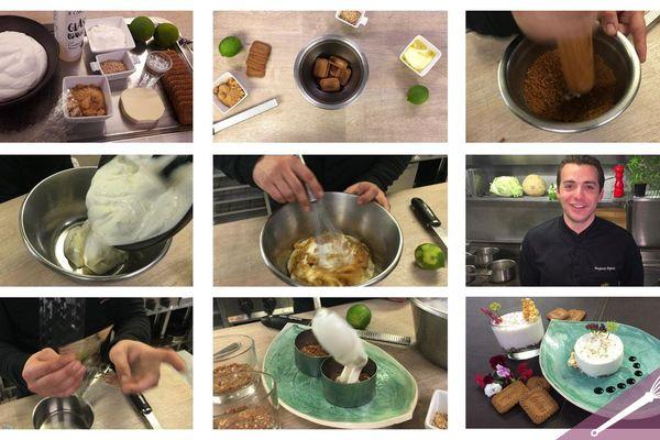Les grandes étapes de la recette du cheesecake aux spéculoos