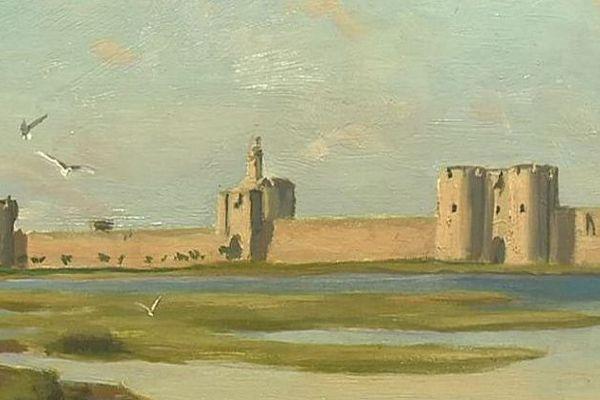 Les remparts d'Aigues-Mortes peints par Frédéric Bazille