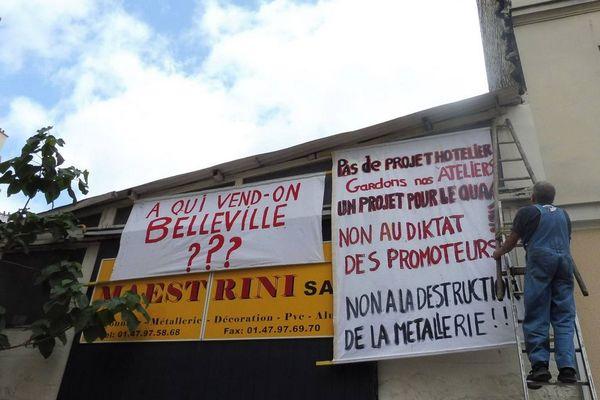 Forte mobilisation des occupants et des habitants de ce quartier de Belleville pour que le projet hôtelier soit abandonné