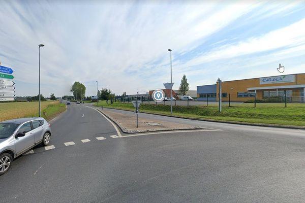 L'accident du travail est survenu dans la zone industrielle d'Epreville
