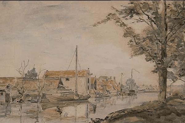 Johan Barthold découvre la Normandie en 1847 et tombe sous le charme du Port de Honfleur
