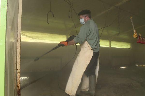 L'heure est au nettoyage et à la désinfection des élevages touchés par la grippe aviaire en Chalosse