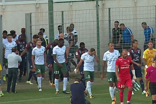 Le Grau-du-Roi (Gard) - Montpellier s'impose 1 à 0 face à Saint-Etienne - 26 juillet 2017