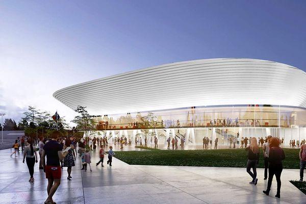 Le chantier de construction de la Narbonne Arena devrait s'achever dans le courant du dernier trimestre 2019, pour une mise en exploitation au 1er janvier 2020. Ici, une illustration de la future salle multimodale.