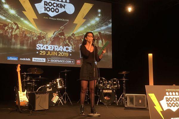 Sonia,une des chanteuses de la Plaine St Denis.