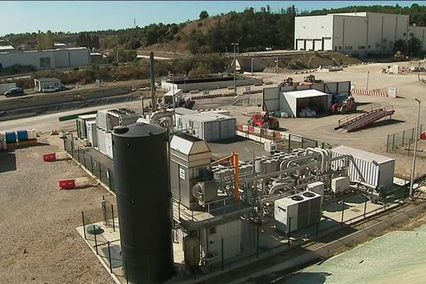 L'unité de production de biogaz du centre d'enfouissement des déchets dangereux de Bellegarde (Gard)