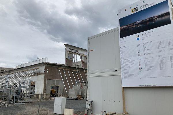 Le chantier du Centre d'interprétation des phares, à l'entrée du premier éperon du port de Brest, est en cours.