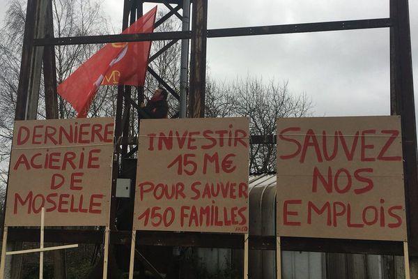 Mobilisation des salariés d'Ascométal ce mercredi 31 janvier.