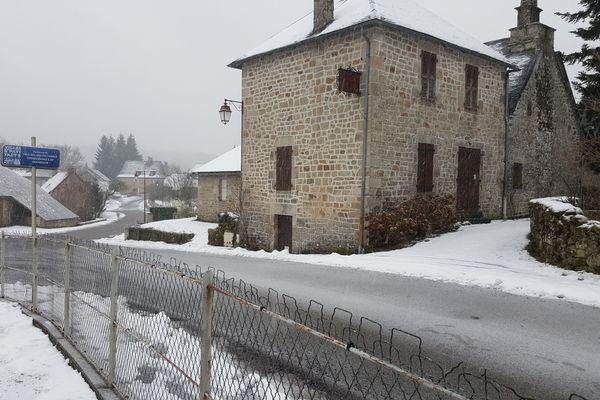 La neige à Soudeilles, en Corrèze, le 29 janvier