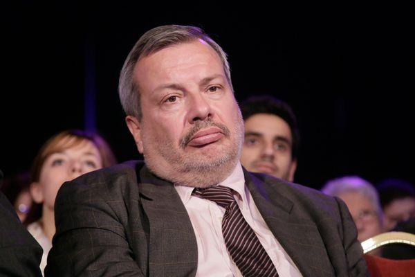 Périco Légasse lors du congrès du parti politique Debout la République, le 5 octobre 2013