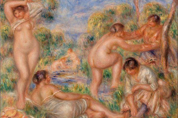 Les Baigneuses de Pierre-Auguste Renoir, l'une des oeuvres de la collection du Dr Albert Barnes, visible au siège de sa fondation à Philadelphie aux Etats-Unis.