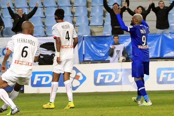 Coupe de la Ligue : Djibril Cissé après son but marqué contre le Stade Rennais