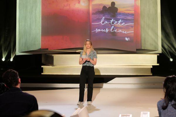 Léa, une des 5 finalistes de la catégorie collège