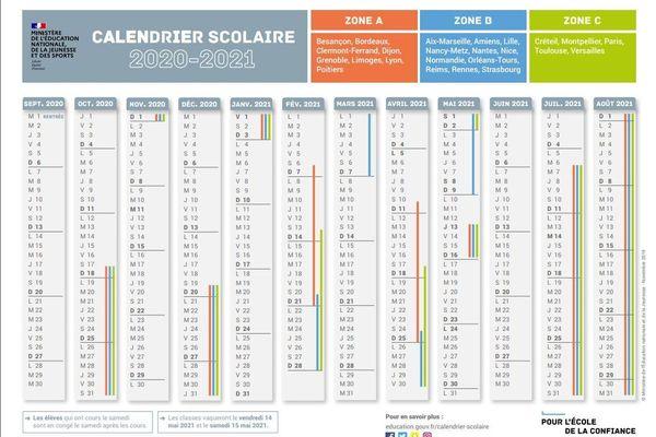 Calendrier 2021 Scolaire Vacances scolaires : voici le calendrier pour l'année 2020 2021