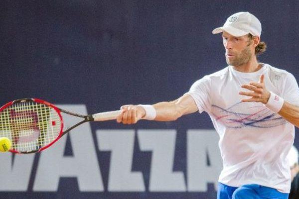 Stéphane Robert en demi final des championnats de tennis à Hamburg en Allemagne - Juillet 2016