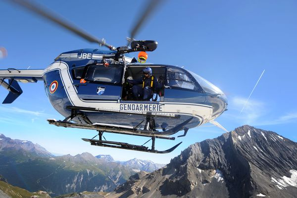 L'hélicoptère du PGHM de Modane. Photo d'illustration.