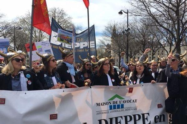 La quasi-totalité du barreau de Dieppe s'est mobilisée à Paris