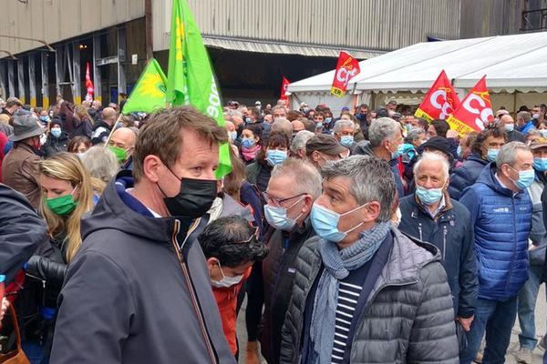 Yannick Jadot venu soutenir les FerroPems le 1er mai 2021