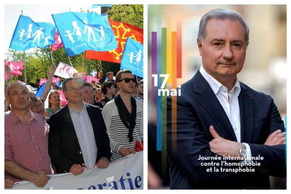 Malgré son soutien affiché aux LGBT, la participation de Jean-Luc Moudenc à la Manif pour tous, il y a sept ans, ne passe toujours pas chez de nombreux membres de la communauté.