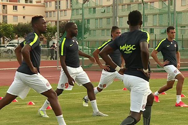Les joueurs du MHSC s'entraînent avant d'affronter Clermont-Ferrand - 20 juillet 2017