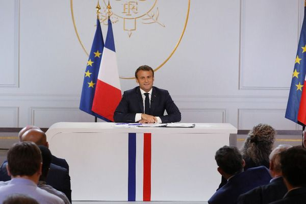 Emmanuel Macron en conférence de presse, le jeudi 25 avril 2019.