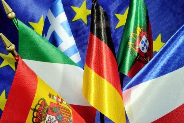 les drapeaux de différents pays européens