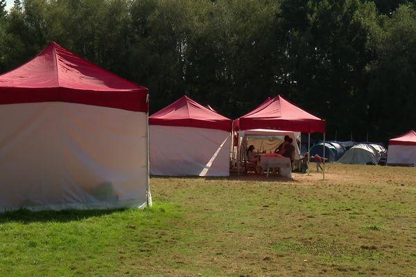 Le campement aux Gayeulles à Rennes