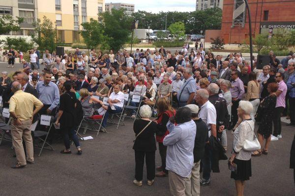 200 personnes ont assisté à la cérémonie d'hommage à André Gervais, jeudi 13 juillet 2017 à Dijon.