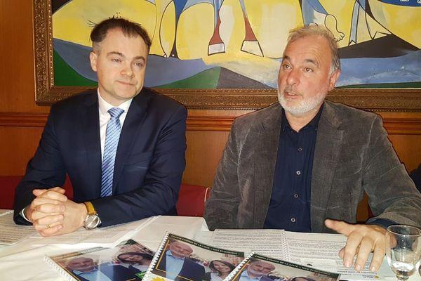 Jean-Christophe Picard, président d'Anticor et Jean-Marc Governatori (à droite) ce mardi 4 février à Nice.