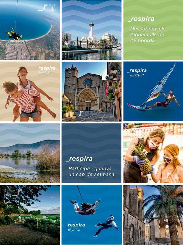 Respire! La nature est au cœur de la nouvelle campagne de publicité de Castelló d'Empúries sur la Costa Brava.