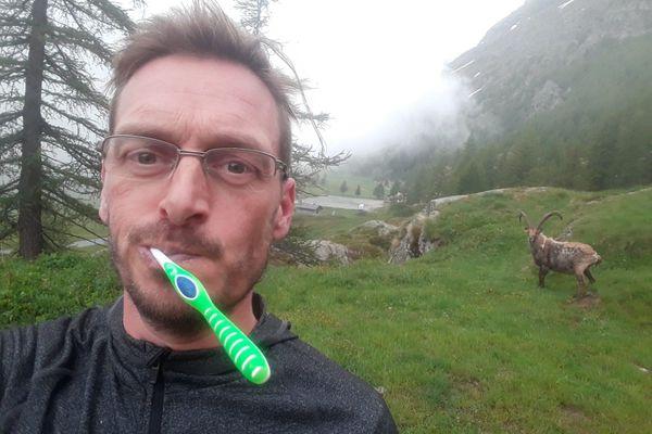 Etre le plus souvent en montagne, c'est que ce que je recherche Arnaud Simard.