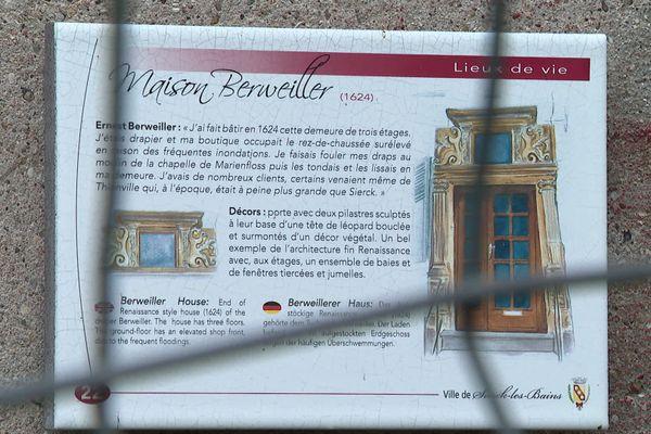 La maison Berweiller, menacée de démolition, date du XVIIe siècle.