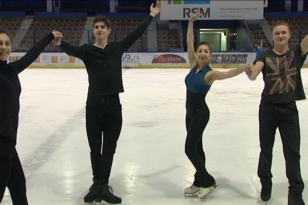 Lorenza Alessandrini et Pierre Souquet, Péroline Ojardias et Michaël Bramante. Deux couples du CSGL participeront aux Championnats d'Europe ISU European Figure Skating Championships 2016 Bratislava à partir du 25 janvier 2016 !