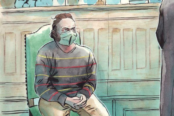 Jonathan Maréchal, lors du premier jour de son procès à la cour d'assises de Laon.