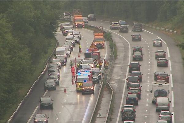 Accident sur l'A20 au sud de Limoges, samedi 27 juillet 2019