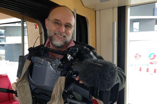 Didier Walter en 2017 en plein tournage