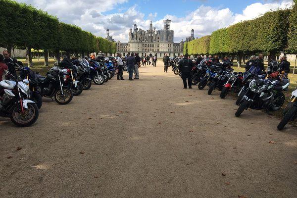 Les motards sont arrivés à Chambord vers 15h ce samedi 11 septembre.