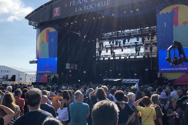 La grande scène Jean-Louis Foulquier ce mercredi 14 juillet. Le public est venu nombreux pour le dernier de ces cinq jours de festival.