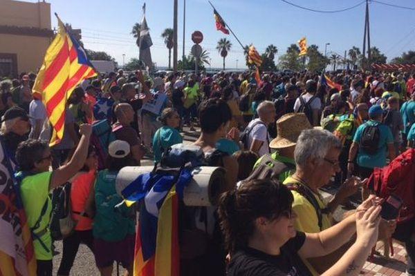 Des milliers de personnes rassemblées pour manifester leur colère après les lourdes condamnations de leur dirigeants - 17/10/19