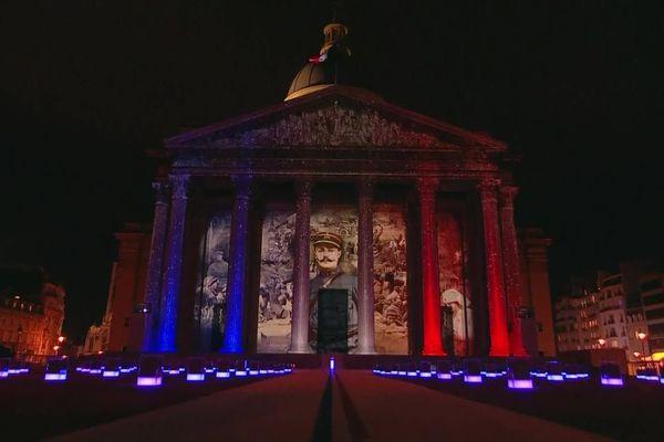 11 novembre 2020 : cérémonie d'entrée de Maurice Genevoix au Panthéon.