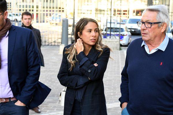 Nadia Karmel lors du procès à laon de Vincent Montré pour d'homicides involontaires et de blessures involontaires.