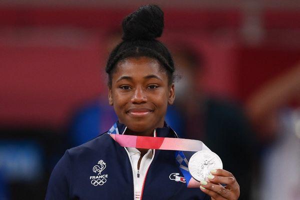 La judokate Sarah-Léonie Cysique médaillée d'argent aux JO de Tokyo lundi 26 juillet 2021 dans la catégorie -57kg